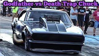 Street Outlaws Chuck vs Godfather Nitrous Camaro at red13 no prep thumbnail