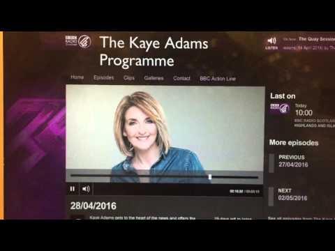 2016: BBC Radio Scotland - Maria Maclennan - Forensic Jewellery
