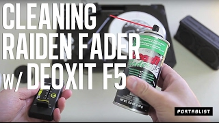 portablist com   how to clean your portable fader with deoxit f5