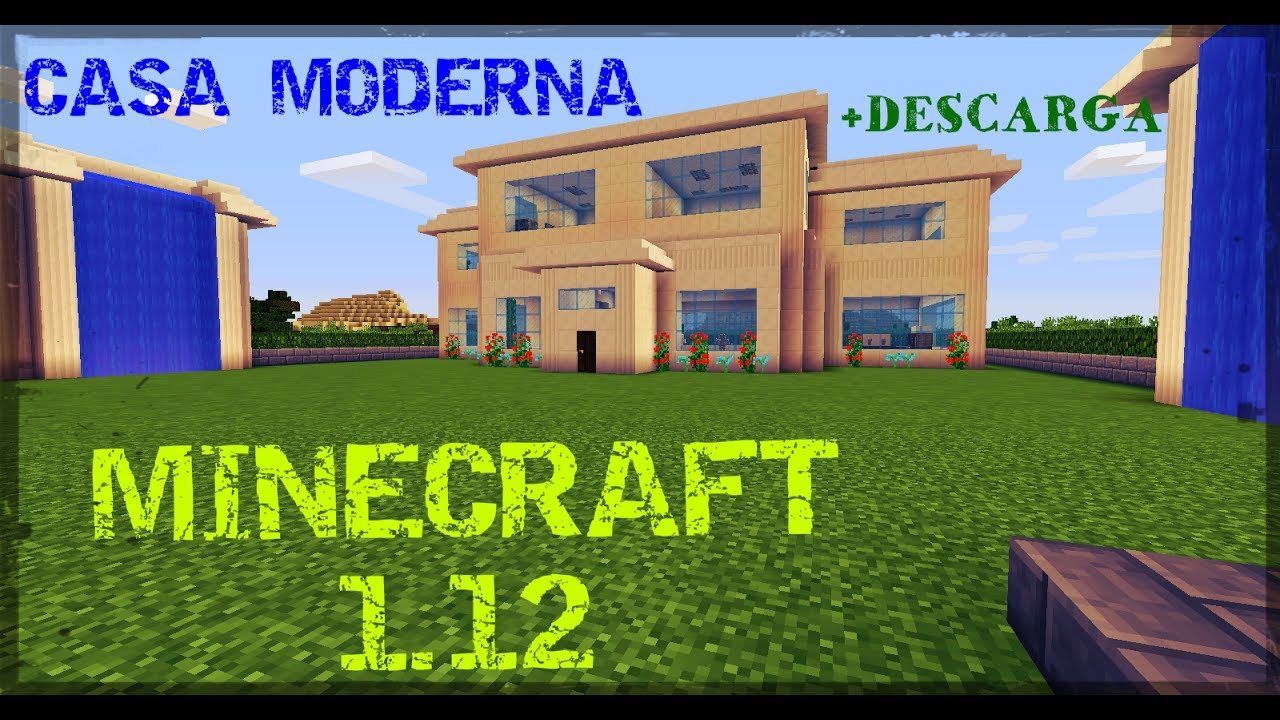 Minecraft casa moderna descarga youtube for Casa moderna 1 8