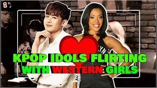 KPOP Idols And Western Girls (Flirty Moments)