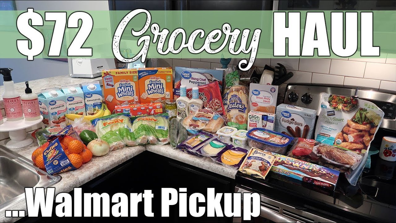 First Grocery Haul Of 2019 72 Walmart Grocery Pickup