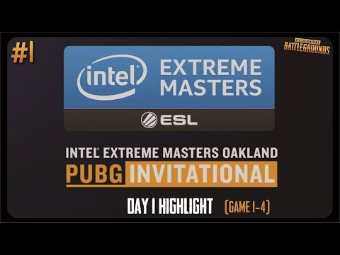 ESL IEM PUBG Oakland Day 1  - Game 1-4 Highlight (Nov 18, 2017)