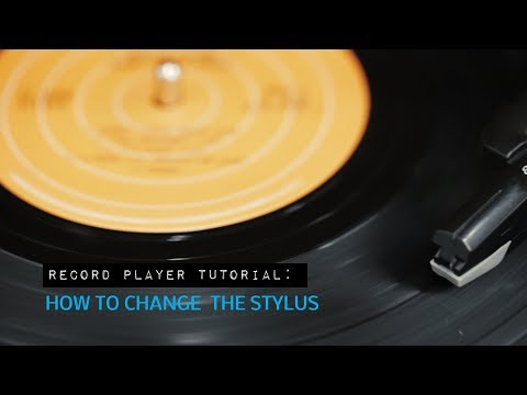 How to Replace the Stylus on an Electrohome Vinyl Record Player