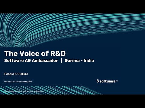 The Voice of R&D | Software AG's ambassador Garima | India