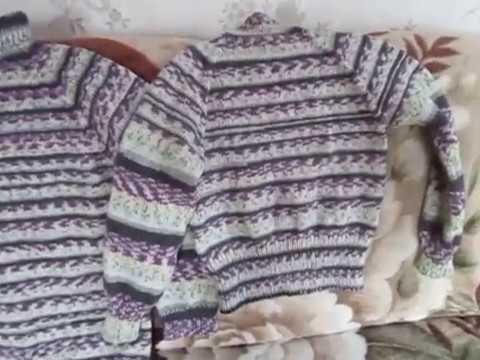 свитера связанные спицами новая работа