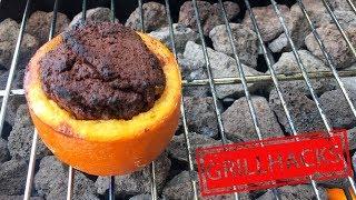 Schokoladenkuchen vom Grill Rezept I Desserts grillen I Orangen Backform