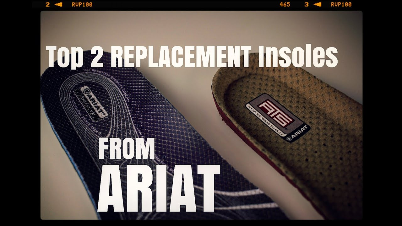 Top 2 Replacement work insoles from ARIAT [ The Boot Guy Reviews ...