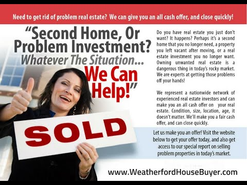 Sell Your House Fast For Cash in Weatherford | Call Tim (817) 550-5069 Opt# 2 video