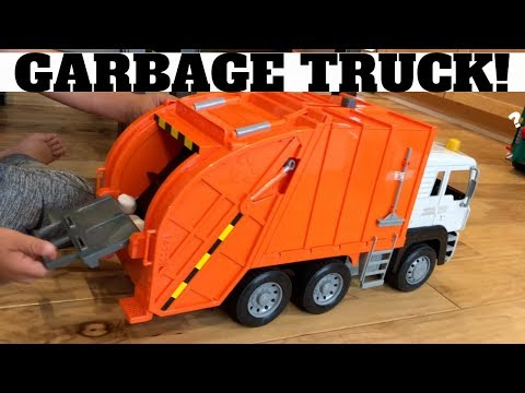 GARBAGE TRUCK TOY FOR KIDS! DRIVEN by Battat Recycling Truck - Orange