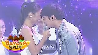 "James, Nadine sing ""Bahala Na"" on Banana Split"