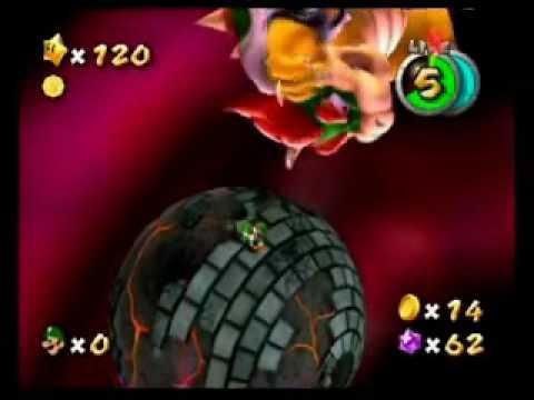 Super Mario Galaxy 2 Yoshi in final boss battle glitch 120 ...