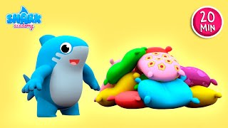 Ding, Dong Bell Song! - Shark Academy | Nursery Rhymes & More Songs for kids