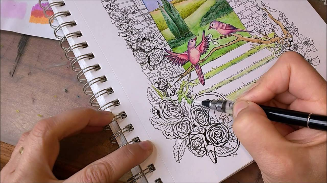 Verbazingwekkend Tekenen met aquarelpotloden en kleurpotloden - YouTube DB-48