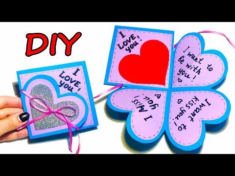Открытка ВАЛЕНТИНКА на ДЕНЬ ВЛЮБЛЕННЫХ своими руками  | DIY Valentines Day Cards