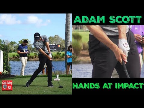 ADAM SCOTT HANDS AT IMPACT SLOW MOTION DRIVER GOLF SWING 1080 HD