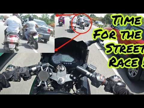 Kawasaki Z800 vs FZ250 vs Pulsar 220 vs Pulsar 180 | Highway+Street Race | I lost my kid