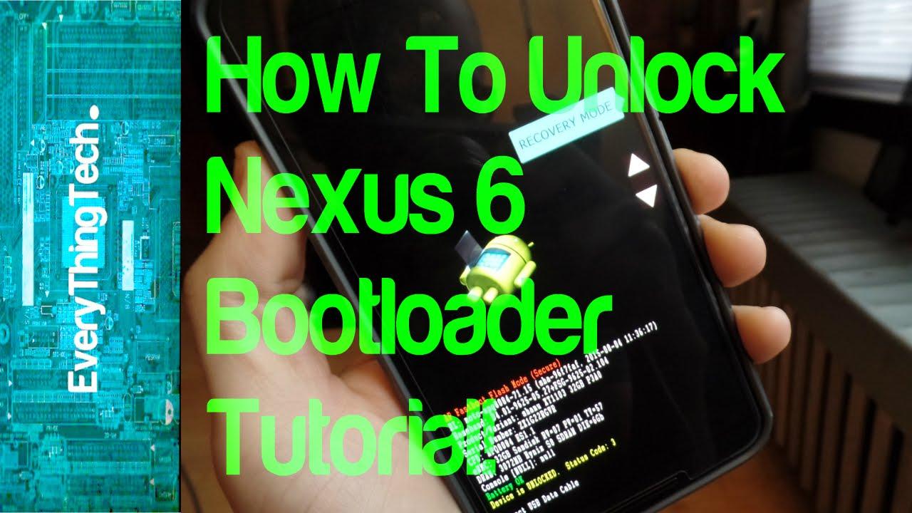 How to unlock Nexus 6 bootloader Tutorial