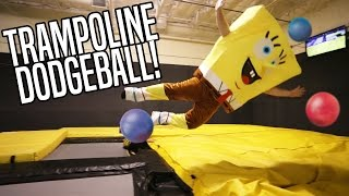 Trampoline Dodgeball with Costumes!!