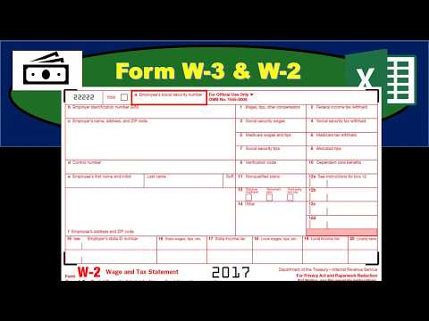 Form W-3 & W-2 - Payroll Taxes