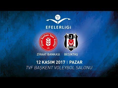 2017-2018 / Efeler Ligi 9. Hafta / Ziraat Bankası 3 – 0 Beşiktaş