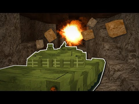 MINING HUGE TUNNEL UNDER THE CITY! - Voxel Turf Gameplay - Base Building & Tank mining!