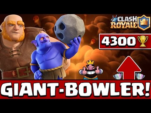 EPIC GIANT-BOWLER DECK | BEST DECK ARENA 9 | 8 WINNING STREAK | 4300+ Trophies | CLASH ROYALE