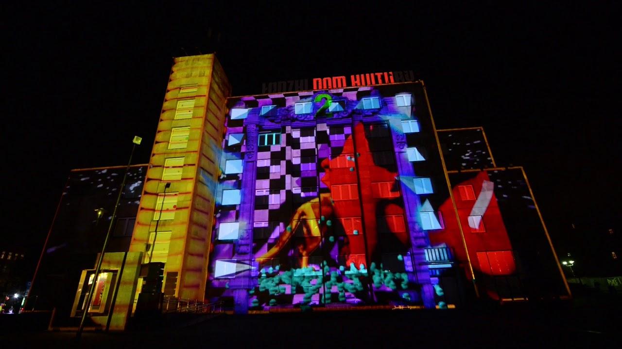 Light Move Festiwal 2017 Mapping na Łódzkim Domu Kultury