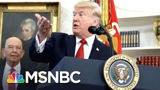 Protester Throws Russian Flags At President Donald Trump On Capitol Hill | The 11th Hour | MSNBC