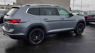 2019 VW Atlas 3.6 SEL Premium 4Motion w/ Captain's Chairs and Black Mejorado wheels