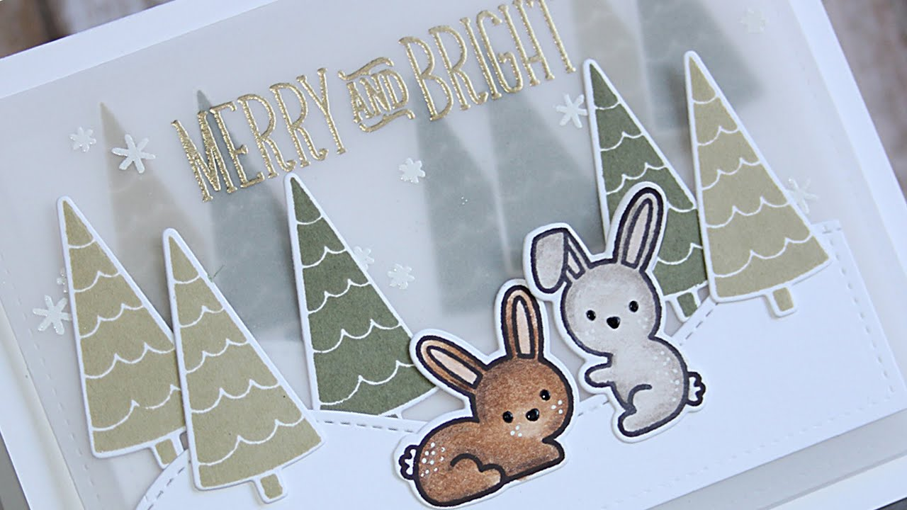 How to make a cute and elegant Christmas card - YouTube