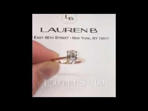 1.50 ct Oval Diamond Rose Gold Engagement Ring
