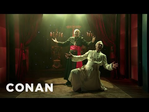 "An Exclusive First Look At ""Two Popes: The Musical"" - CONAN on TBS"