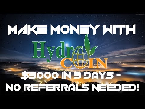 HYDROCOIN - $3000 IN 3 DAYS - NO REFERRALS NEEDED! BEST NEW ICO - CRYPTO LENDING!