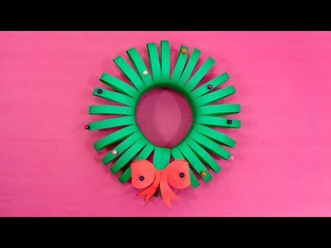 DIY Paper Christmas Wreath Making - How To Make Christmas Wreath Out of Paper