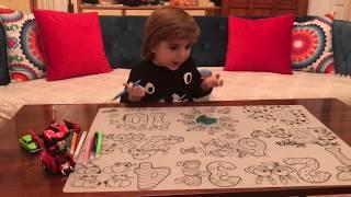 Fun games with Can - İlginç Yıkanabilir Resim Boyama Seti / Fun Kids Video