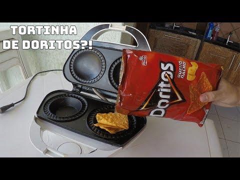 COLOQUEI DORITOS NA MÁQUINA DE TORTINHAS E FIZ UMA TORTA DE DORITOS?!