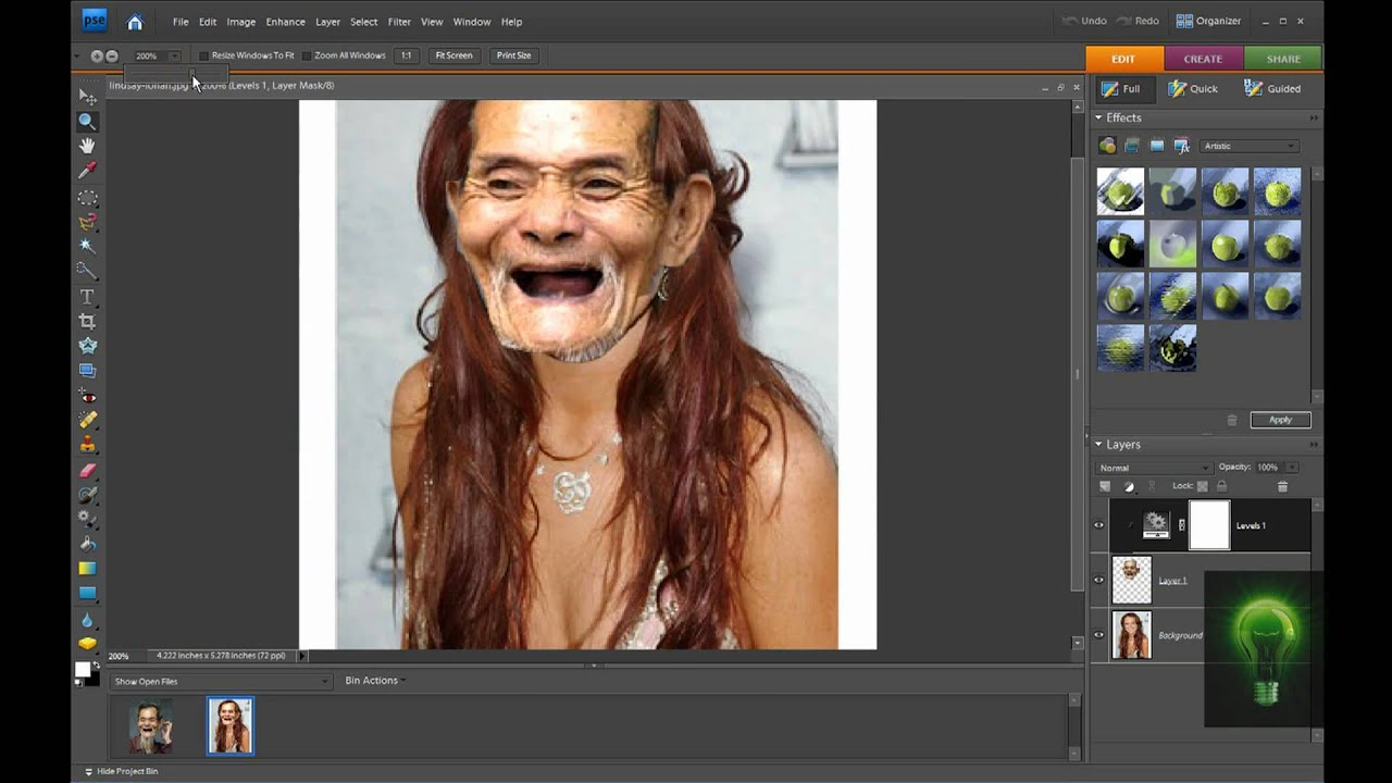 Tutorial face transplant in adobe photoshop elements 7 youtube baditri Gallery