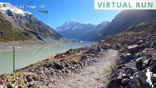 Virtual Run 10K | Virtual Running Videos For Treadmill | Treadmill Workout Mount Cook New Zealand