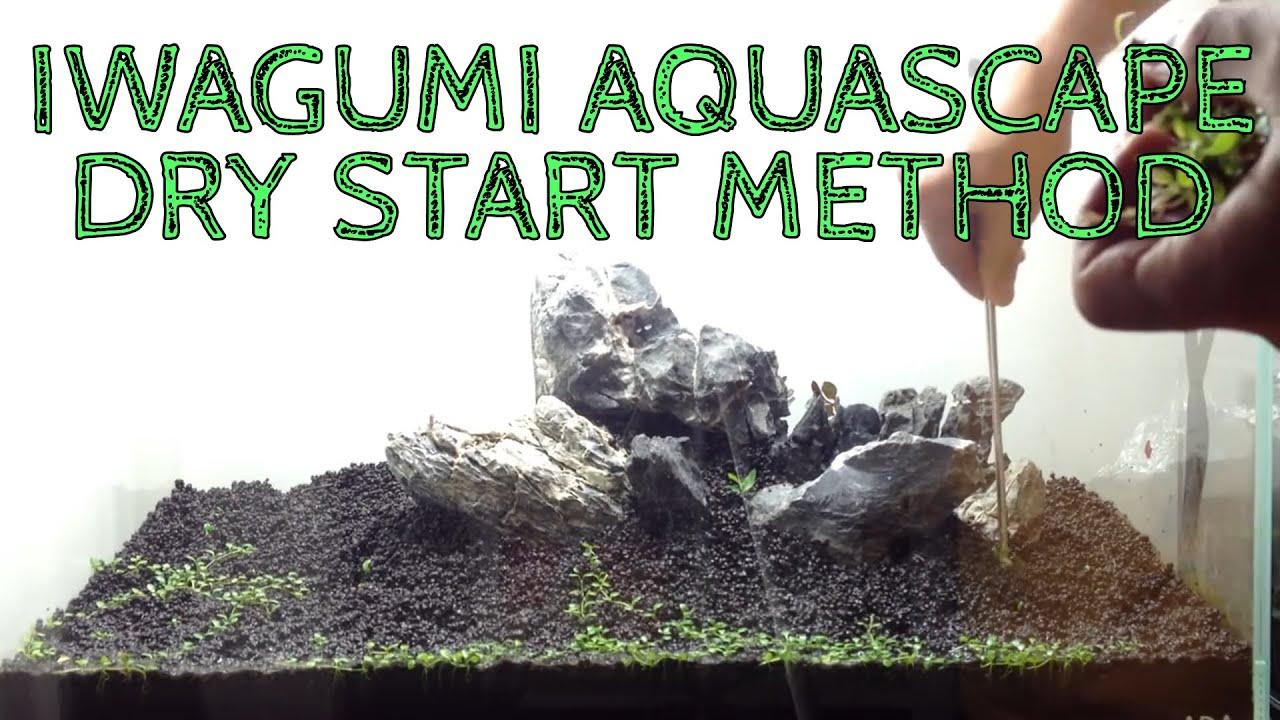 Setting up Nature Aquarium Aquascape, Iwagumi 2A - YouTube