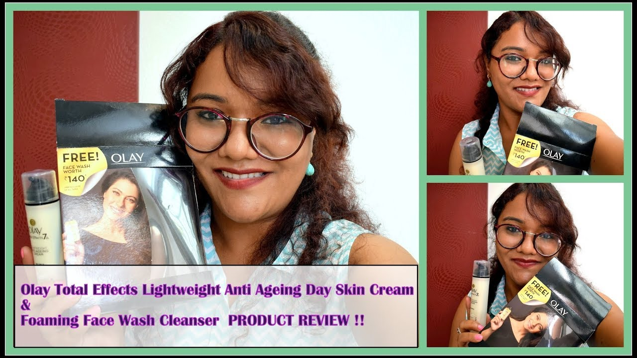 Olay Total Effects Lightweight Anti Ageing Day Skin Cream Face Effect Foaming Cleanser 50gr Wash Product Review