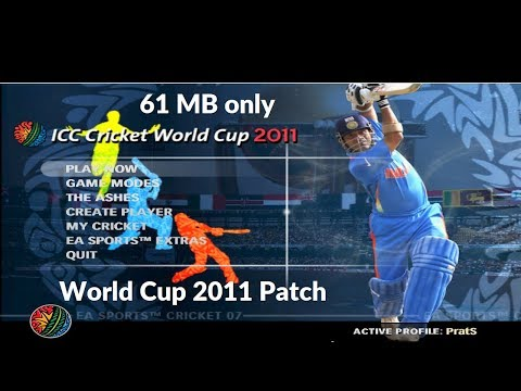 World Cup 2011 Patch for Cricket 07 Download  Installation  Gameplay