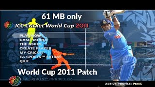World Cup 2011 Patch for Cricket 07 (Download + Installation + Gameplay)