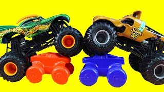 Huge Toy Collection Of Hot Wheels Monster Jam Front Flip Takedown & Scooby Doo Truck And More