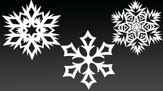 3 BEST Paper Snowflakes in 5 MINUTES EACH - THE BEST DIY EASY Paper Snowflakes 2019 - Yakomoga