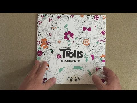 the official trolls coloring book dreamworks trolls flip through