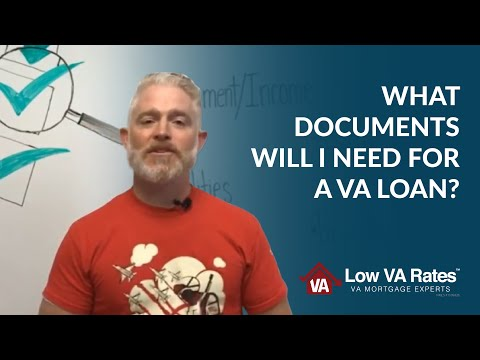 Mortgage Loan Documents Checklist for VA Home Loans