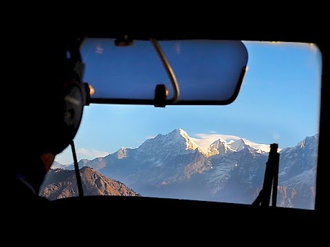 Flight from Kathmandu to Lukla airport in Nepal