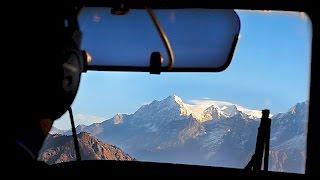 Flight from Kathmandu to Lukla airport in Nepal
