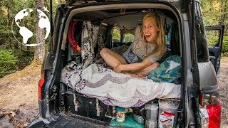 Rock Climber Lives in a SUV in order to Travel Solo and Eats for Free